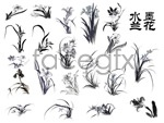 Link toChinese ink painting orchids psd