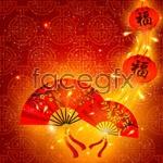 Link toChinese new year fan, lantern vector