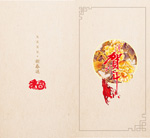 Link toChinese new year greeting card template vector