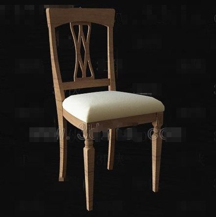 Link toChinese simple wooden chair 3d model