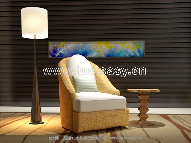 Link toChinese soft sofa fabric 3d model