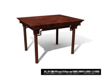 Link toChinese square table wood furniture 3d model