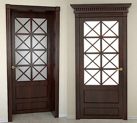 Link toChinese style brown doors 3d model