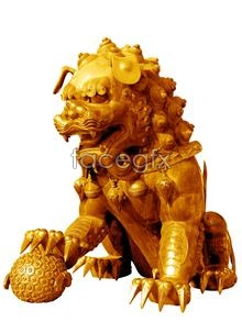 Link toChinese traditional copper gilt lion sculpture psd