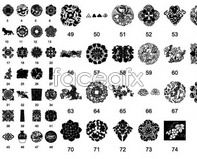 Link toChinese traditional decorative patterns 6 style classic vector
