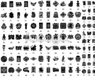 Link toChinese traditional decorative patterns 7 style classic vector