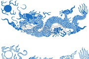 Link toChinese traditional dragon patterns vector