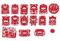 Link toChinese traditional paper-cut vector mascots