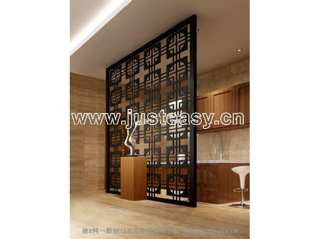 Link toChinese traditional screen 3d model (including materials)