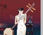 Link toChinese typography design pipa women classical style element style psd