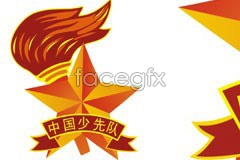 Link toChinese young pioneers insignia cdr format vector