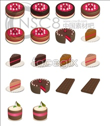 Chocolate cake icons