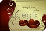 Link toChocolate heart-shaped pattern vector