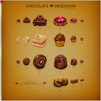 Link toChocolate obsession icon set icons pack