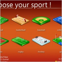Choose your sport icons icons pack