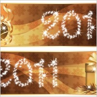 Link toChristmas 2011 word flash banner vector