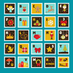 Link toChristmas alphabet stamps vector