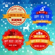 Link toChristmas and new year labels vector