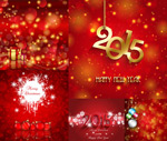 Link toChristmas and new year poster vector