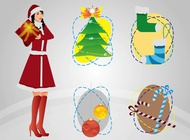 Link toChristmas art vector free