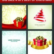 Link toChristmas background 4 in 1 vector set 01