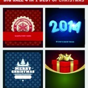 Link toChristmas background 4 in 1 vector set 04