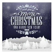 Link toChristmas background and creative christmas paper cut vector