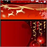 Link toChristmas background banner vector