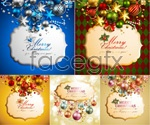 Link toChristmas background elements vector