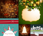 Christmas background theme vector