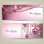 Link toChristmas ball cards vector