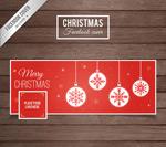 Christmas ball face book cover vector