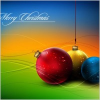Link toChristmas ball hanging crystal style vector 5
