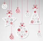 Link toChristmas ball ornaments vector
