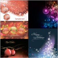 Link toChristmas ball with colorful background vector