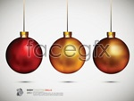 Link toChristmas balls background 02 vector