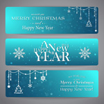 Link toChristmas banners backgrounds vector