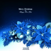 Link toChristmas blue pearl flower vector background