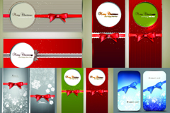 Link toChristmas bow banner design vector
