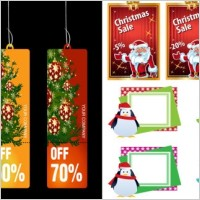 Link toChristmas business promotional template vector