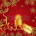 Link toChristmas candle pattern vector
