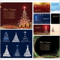 Link toChristmas card background vector