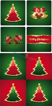 Link toChristmas card design vector graph
