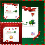 Christmas card envelopes vector
