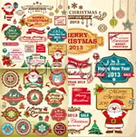 Link toChristmas card labels vector