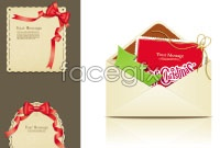 Link toChristmas card red ribbon theme vector