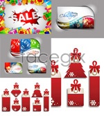 Link toChristmas cards sale vector