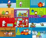 Link toChristmas cartoon character vector