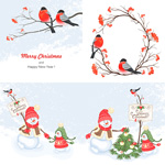 Link toChristmas cartoon painting vector