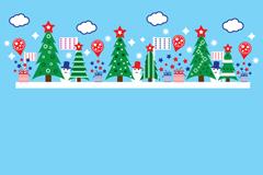 Link toChristmas cartoon snowman background vector